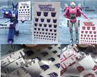 all kinds of decals for megatron or optimus free  shipping combined