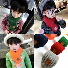 Winter Scarf Solid Color Kids Knitted Scarves Winter Warm Scarf for Boys Girls