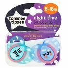Tommee Tippee Night Time Soothers 6-18m - Turquoise I Love Sleep 1 2 3 6 12