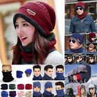 Adult Winter Fleece Snood Scarf Neck Warm Beanie Hat Caps Ski Balaclava Crochet