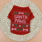 US Pet Christmas T Shirt Dog Cat Winter Warm Hoodie Puppy Clothes Xmas Costume