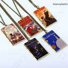 Mini Harry Potter Story Cover Book Necklace Pendant Jewelry Exquisite Gift