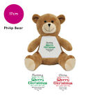 PERSONALISED CHRISTMAS SOFT TOY PHILIP TEDDY BEAR GIFT IDEA STOCKING FILLER