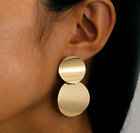 NEW XMAS CHRISTMAS  MULTI CIRCLE GOLD STATEMENT DROP EARRINGS  UK SELLER
