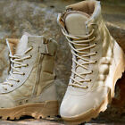 men boots Canvas leather Shoes Military Tactical Army Combat Boots outdoor boots