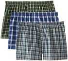Fruit of the Loom Mens Tartan Boxer Shorts in Famous Brand Packaging Small to 5X