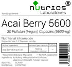 Nutrics® 5600mg ACAI BERRY Fruit Extract Vegan Capsules Wholesale Bulk Buy