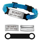 Quick Release Cat Collar Reflective Collars with Slide On Cat Tags Name Engraved