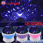 Star and Moon LED Rotating Projector Night Light Baby Kids Bedroom Sleeping Lamp