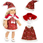 """US Seller Fits 18"""" American Girl Doll Clothes Dress Christmas Outfit Xmas Gift"""