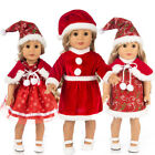 "US Seller Fits 18"" American Girl Doll Clothes Dress Christmas Outfit Xmas Gift"