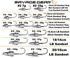 Savage Gear Jig Heads For Sandeel Slugs Lures Bodies Combos Sea Cod Micro lrf