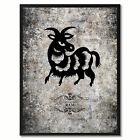 Zodiac Ram Horoscope Canvas Print, Black Picture Frame Home Decor Wall Art Gift