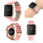 US For iWatch Apple Watch Series 3 2 1 42mm Leather Band Strap Bracelet Women image