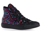 Discuss Women Chuck Taylor All Star Hi Holiday Scene Sequin Sneakers, Boycott/Blu