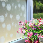 Privacy window treatment white frosted dandelion static cling window film