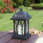 Solar Power Flameless LED Candle Lantern Lights | Outdoor Garden Hanging Lamp UK