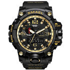 SMAEL Men Sport Watch Dual Display Analog Digital LED Electronic Wrist Watch NEW
