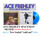 Kiss - Ace Frehley SPACEMAN Album Flat SIGNED by ACE & BLUE SOLD OUT VINYL LP
