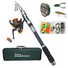 Telescopic Spinning Fishing Rod and Reel Combo Kit with Fishing Bag Accessories