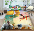 Single Double Twin Full Queen King Bed Pillowcase Quilt Cover RAUO21 LEGOWorlds