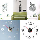 Modern 3d Wall Clock Diy Home Decoration Crystal Mirror Vinyl Art Sticker Design