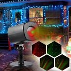 12 Patterns Outdoor LED Moving Laser Projector Landscape Stage Light Party Xmas@