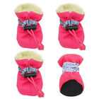 Waterproof Winter Dog Shoes Anti-slip Footwear Thick Warm For Small Cats Dogs