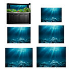 3D Aquarium Background Fish Tank Backdrop Static Cling Wallpaper Sticker