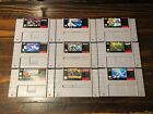 Huge Lot of Super Nintendo SNES Games  - Pick a Title - Super Mario, Donkey Kong