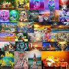Full Drill 5D Diamond Painting Home Room Decor DIY Xmas Gift + Drawing Tools USA