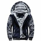 Men Winter Thick Wool Hooded Camouflage Jacket Fleece Fabric Type Inside Lining