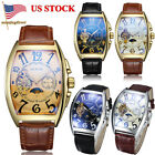 Luxury Tourbillon Automatic Wrist Watch Men 3 Functions Genuine Leather Strap image