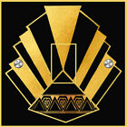 Black And Gold Art Deco Standard Switch Sticker