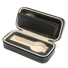 Portable 8 Grids Travel Watch Box PU Leather Storage Zipper Case Organizer Coll