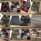 Large Rugs Runners Mats Multi Bright Modern Contemporary Designs Soft Low Pile