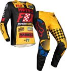 FOX COMPLETO YOUTH 180 CZAR GIALLO YELLOW BLACK BAMBINO CROSS MOTOCROSS ENDURO