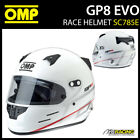 SC785E OMP Racing GP8 EVO Full Face Helmet Grand Prix EVO FIA Approved