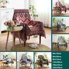 Boho Knitted Weave Reversible Sofa Throw Blanket Bed Cover Picnic Rug Tapestry