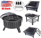 Outdoor Fire Pit Heater Backyard Patio Stove Fireplace BBQ Grill Lron Durable US