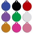20pcs Wholesale Dog ID Tags Personalised Puppy Cat Aluminum Roung Tags Red Black