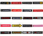 Remove Before Flight Pilot Motorcycle Car Embroidery Keychain Keyring Holder Tag