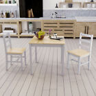 Panana Solid Pine Wood Dining Table and 2 Chairs Set Kitchen Home Furniture New