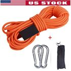 10/15/20/30m Multi Braided Emergency Rappelling Rock Climbing Rope Strap US