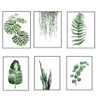 Modern Nordic Green Plant Leaf Canvas Art Poster Print Picture Wall Home Decor