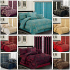 Luxury 7 Piece Quilted Bedspread  Bed Throw Set Comforter Set  Matching Curtains image