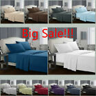 King Size Deep Pocket Comfort 1800 Count 4 Piece Bed Sheet Set Big Sale image