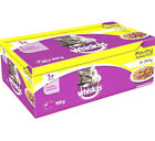 WHISKAS POULTRY POUCHES - 12pk or 40pk Complete Adult 1+ Jelly Wet Cat Food bp