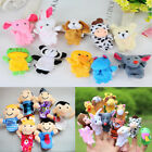 6/12Pcs Animal Finger Puppet Cartoon Doll Kids Baby Educational Toy Gift