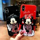 For iPhone X XS Max XR 8 7 Cute Cartoon Disney Minnie Toy Stand Holder Soft case